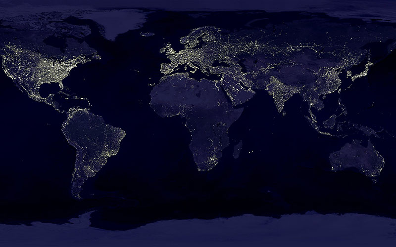Lights of earth at night