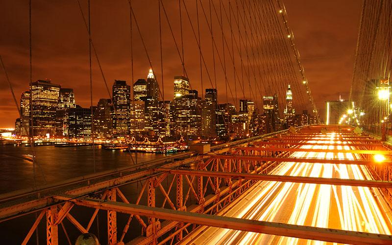NYC seen from bridge